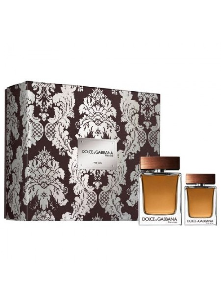PERFUME SET DOLCE & GABBANA THE ONE EDT 100ML 2PCS HOMBRE
