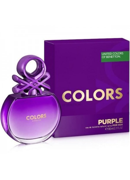 PERFUME BENETTON COLORS PURPLE EDT 80ML MUJER