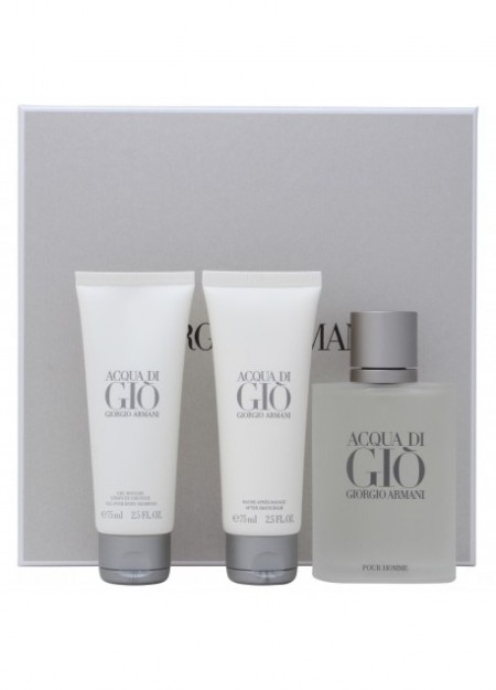 Perfume Giorgio Armani Set Acqua Di Gio Men 3 Pcs Edt 100 Ml