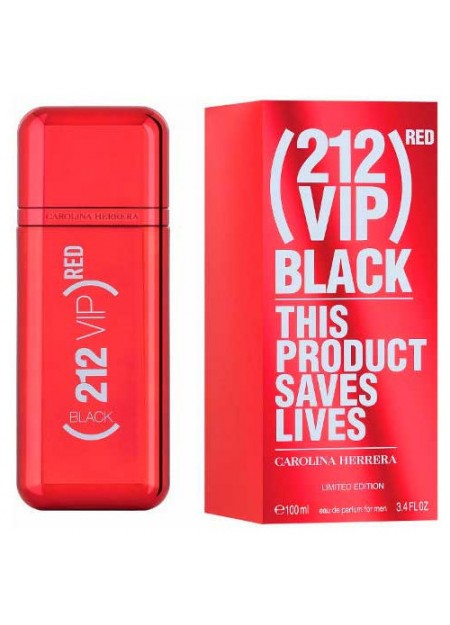 PERFUME CAROLINA HERRERA 212 VIP BLACK RED EDP 100ML HOMBRE